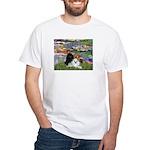 Lilies / 3 Poodles White T-Shirt