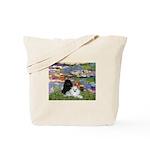 Lilies / 3 Poodles Tote Bag