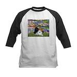 Lilies / 3 Poodles Kids Baseball Jersey