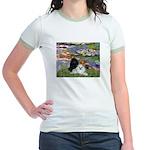 Lilies / 3 Poodles Jr. Ringer T-Shirt