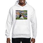 Lilies / 3 Poodles Hooded Sweatshirt