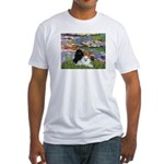 Lilies / 3 Poodles Fitted T-Shirt