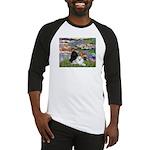 Lilies / 3 Poodles Baseball Jersey
