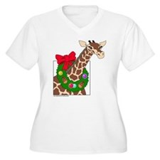 Giraffe with Wreath T-Shirt
