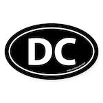 Washington DC Auto Sticker -Black (Oval)
