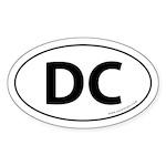Washington DC Auto Sticker -White (Oval)