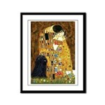 Kiss / Puli Framed Panel Print
