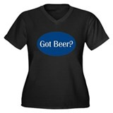 Bartender Barmaid Women's Plus Size V-Neck Dark T-