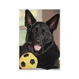 Soccer Dog Rectangle Magnet