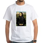 Mona Lisa /Puli White T-Shirt