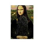 Mona Lisa /Puli Rectangle Magnet (10 pack)