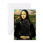 Mona Lisa /Puli Greeting Cards (Pk of 10)
