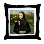 Mona Lisa /Puli Throw Pillow
