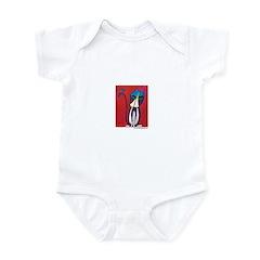 Marcy Hall's Tuxedo Cat & Bird Infant Bodysuit