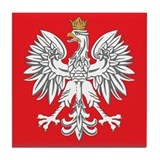 square polish eagle Tile Coaster