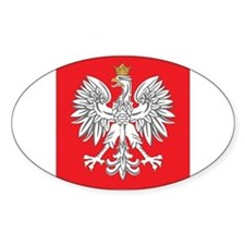 square polish eagle Oval Decal
