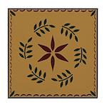 Star and Wreath Tile Coaster