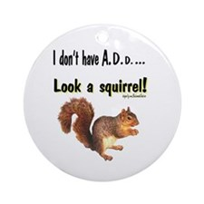 ADD Squirrel Ornament (Round)