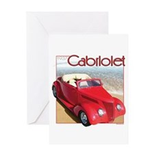1937 Cabriolet Greeting Card