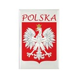 White Eagle and Polska Rectangle Magnet