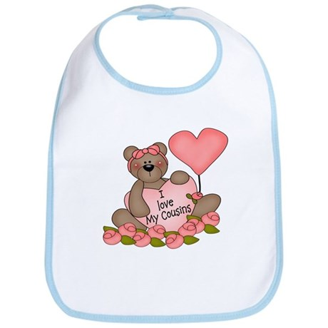 I LOVE My Cousins CUTE Bear Bib