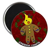Gingerbread Cockatiel Christmas Magnet