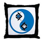 Masonic Yin Yang Throw Pillow