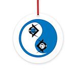 Masonic Yin Yang Ornament (Round)