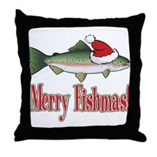 Merry Fishmas Throw Pillow