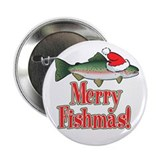 "Merry Fishmas 2.25"" Button (100 pack)"