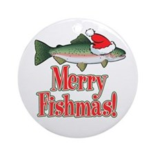 Merry Fishmas Ornament (Round)