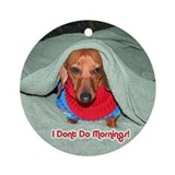 Red Dachshunds Ornament (Round)