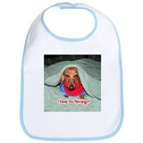 Red Dachshunds Bib