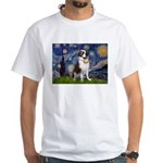 Starry / Saint Bernard White T-Shirt