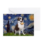 Starry / Saint Bernard Greeting Cards (Pk of 10)