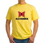 Butterfly - Alexandra Yellow T-Shirt