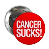 Cancer Sucks! button (single) - modern