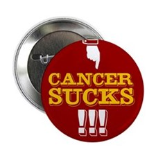 Cancer Sucks! button (10-pack) - old timey