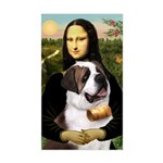 Mona / Saint Bernard Sticker (Rectangle)