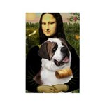 Mona / Saint Bernard Rectangle Magnet
