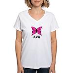 Butterfly - Ava Women's V-Neck T-Shirt