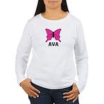 Butterfly - Ava Women's Long Sleeve T-Shirt
