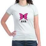 Butterfly - Ava Jr. Ringer T-Shirt
