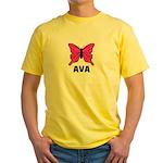 Butterfly - Ava Yellow T-Shirt
