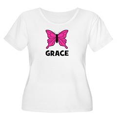 Butterfly - Grace Women's Plus Size Scoop Neck T-S