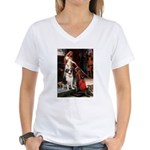 Accolade / St Bernard Women's V-Neck T-Shirt
