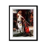 Accolade / St Bernard Framed Panel Print