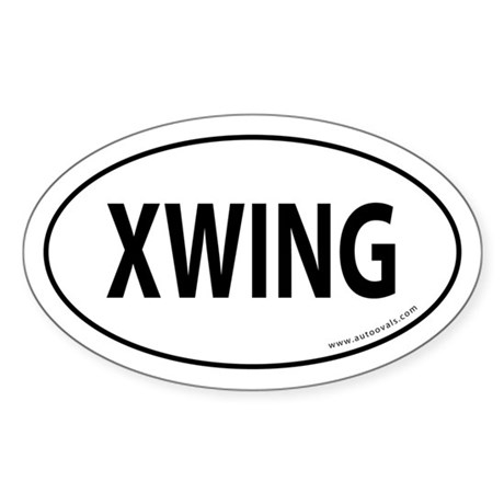 XWING Auto Sticker -White (Oval)