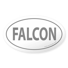 FALCON Auto Sticker -White (Oval)