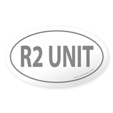 R2 Unit Auto Sticker -White (Oval)